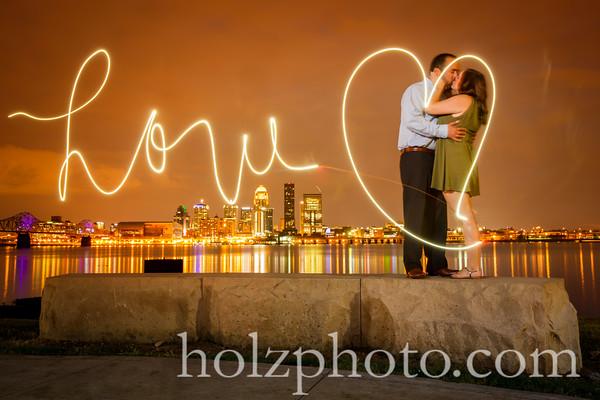 Kara & Luk Color Engagement Photos