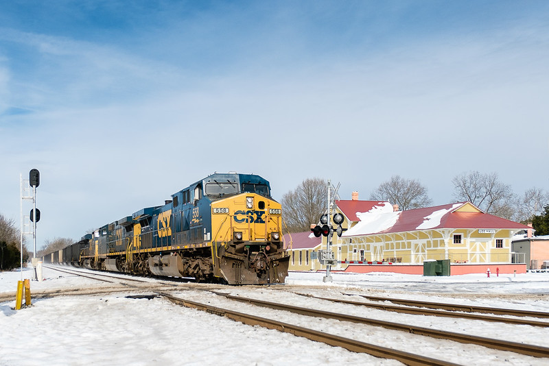 Coal Moves To Port for Export by Rail in Snow