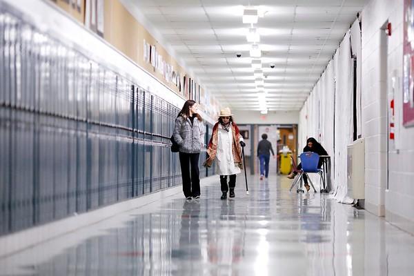 Berkshire Supergenarian Hall Walking at LMMHS-120418