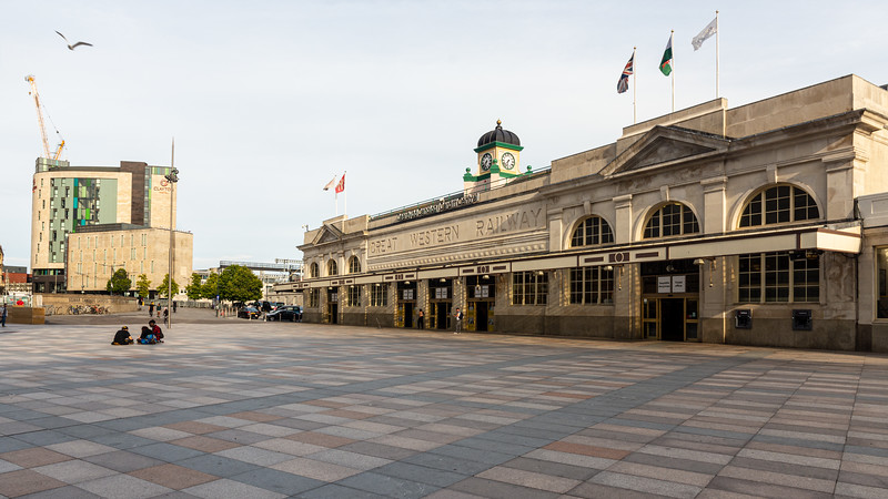 Cardiff Central Station and Central Square