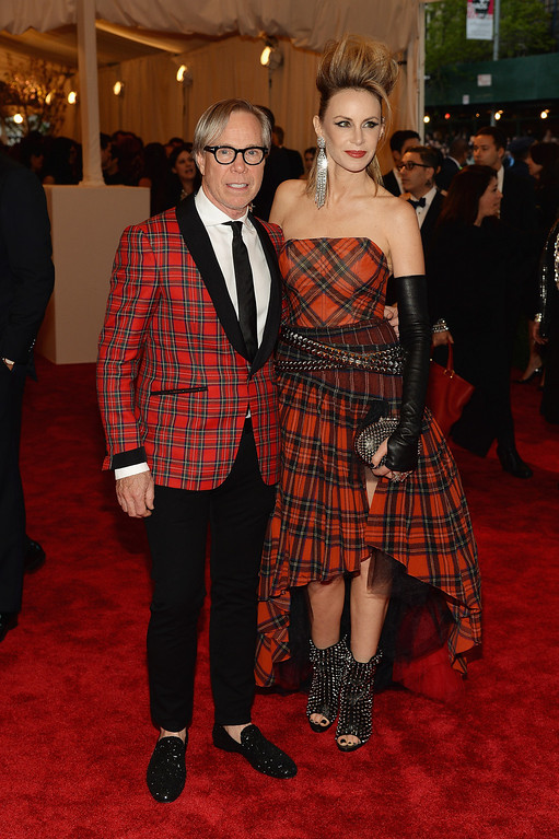 """. Tommy Hilfiger and Dee Hilfiger attends the Costume Institute Gala for the \""""PUNK: Chaos to Couture\"""" exhibition at the Metropolitan Museum of Art on May 6, 2013 in New York City.  (Photo by Dimitrios Kambouris/Getty Images)"""