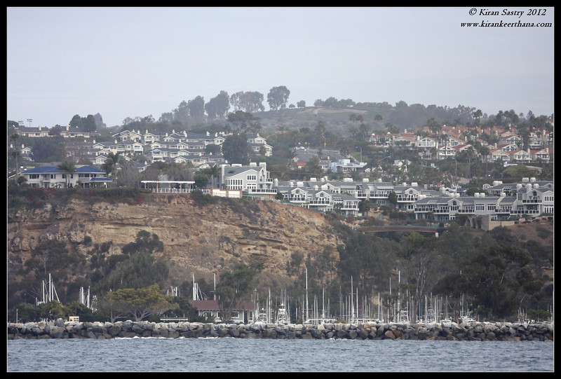 View of Dana Point City from the Whale watching boat, Dana Point, Orange County, California, January 2012
