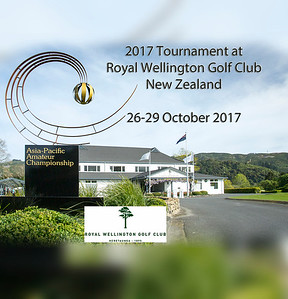 Oct 17 - Golf - 2017 Asia-Pacific Amateur Championship