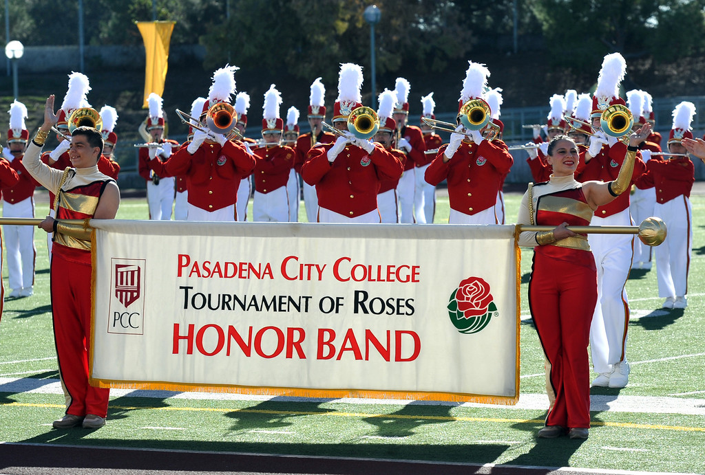 . The Pasadena City College Tournament of Roses Honor Band performs during the 34th Annual Pasadena Tournament of Roses Bandfest at Pasadena City College on Monday December 30, 2013. (Staff Photo by Keith Durflinger/Pasadena Star-News) 12-30-13