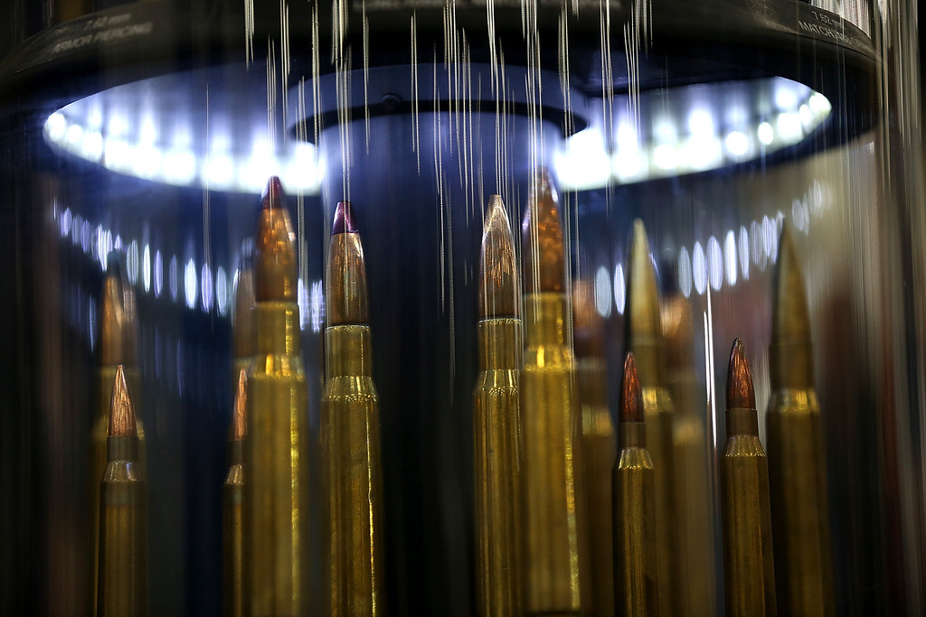. HOUSTON, TX - MAY 03:  Ammunition is displayed during the 2013 NRA Annual Meeting and Exhibits at the George R. Brown Convention Center on May 3, 2013 in Houston, Texas.  More than 70,000 peope are expected to attend the NRA\'s 3-day annual meeting that features nearly 550 exhibitors, gun trade show and a political rally. The Show runs from May 3-5.  (Photo by Justin Sullivan/Getty Images)