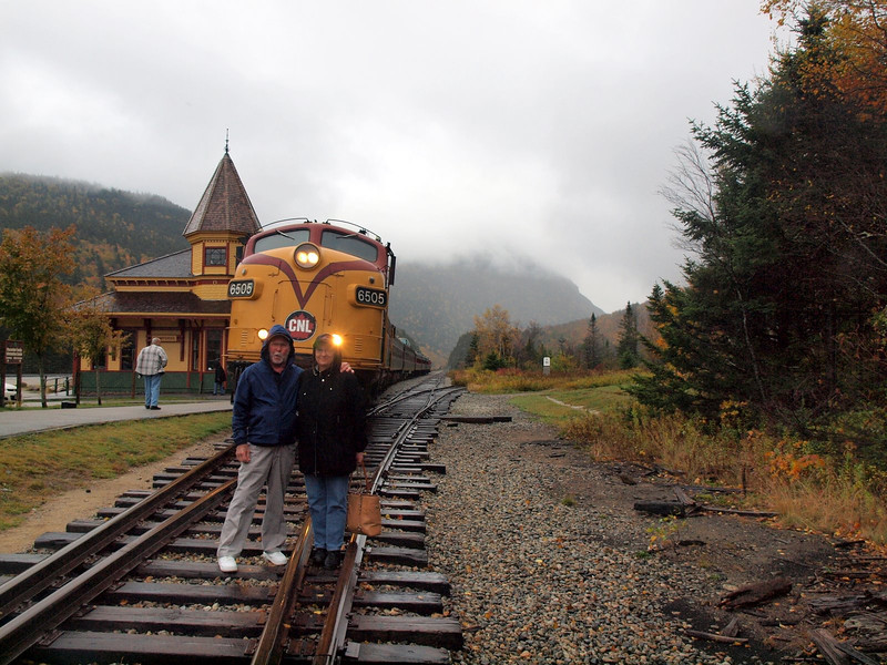 Cindy & David - Conway Scenic Railway Trip, Crawford's Notch, New Hampshire