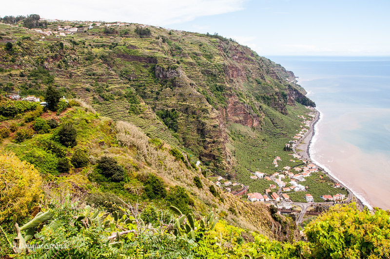 Island of Madeira - agricultural terraces abound