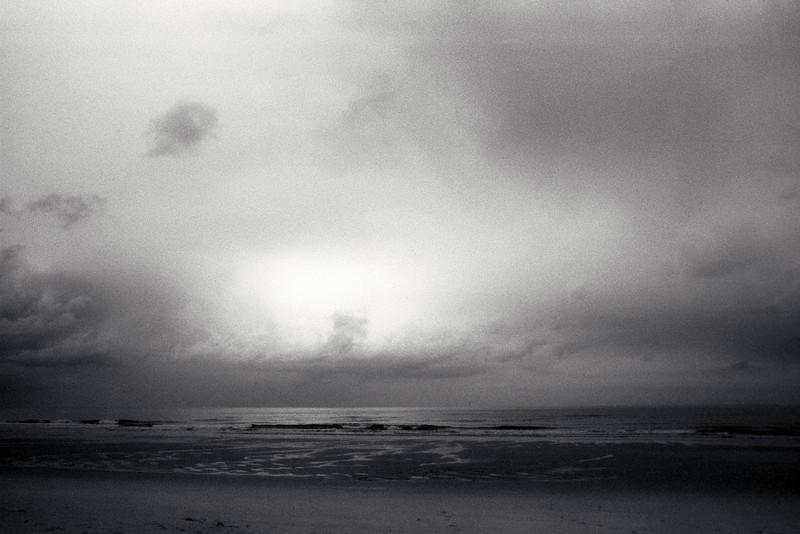 Druridge Bay, Northumberland; early morning, February 1989