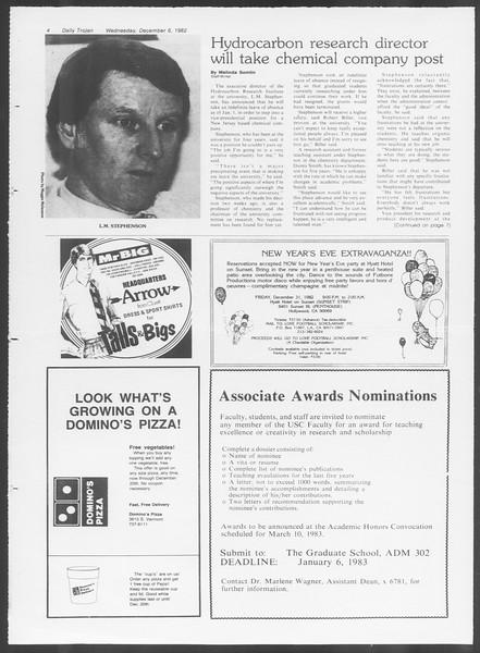 Daily Trojan, Vol. 92, No. 61, December 08, 1982