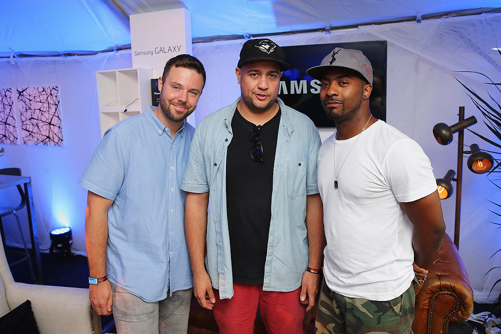 . CHICAGO, IL - AUGUST 02: Adam Tune, Jr. Flo, and Adam Tune of Keys N Krates at the Samsung Galaxy Artist Lounge at Lollapalooza  on August 2, 2013 in Chicago City.  (Photo by Neilson Barnard/Getty Images for Samsung Galaxy)