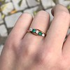 .45ctw Victorian 5 Stone OEC and Emerald Band 9