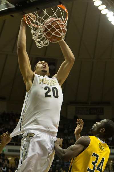 A.J. Hammons dunks for the Purdue Boillermakers vs. Siena Saints