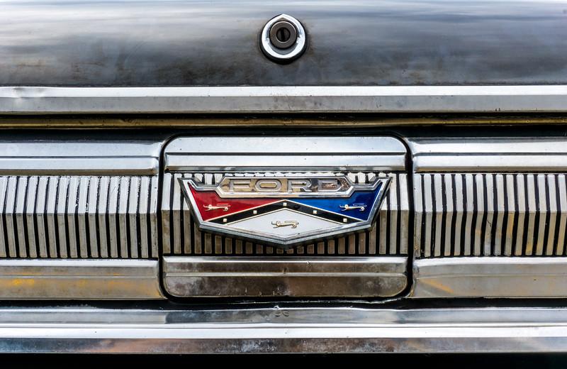 1960 Ford Falcon trunk lid emblem