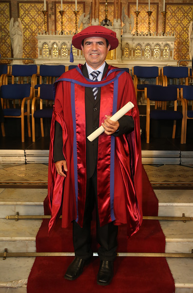 Pictured is Paulo Marcio Da Silva Melo who was conferred a Doctor of Philosophy. Picture: Patrick Browne.