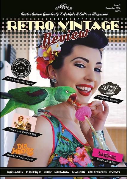 Front cover for Retro Vintage Review magazine https://rvrmag.com.au