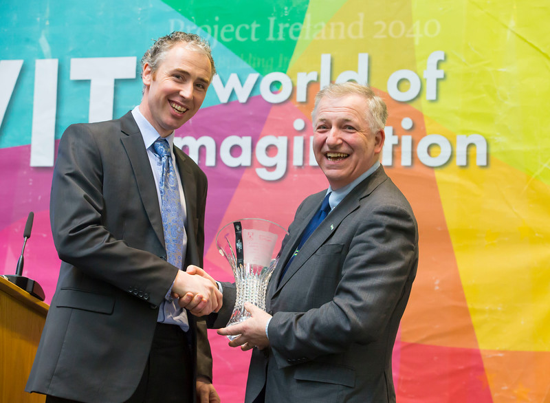 "FREE TO USE IMAGE. 09/03/2018. Waterford Institute of Technology and Teagasc marked 40 years of partnership at a Land Sciences Careers event for WIT students at the WIT Arena. The programmes the two collaborate on span right across the board from agrifood, to forestry, and horticulture.  Pictured is Dr.  Tony  Woodcock, Agriculture Lecturer and Gerry Boyle, Director of Teagasc. Picture: Patrick Browne     Addressing the WIT Land Sciences event at the WIT Arena, Gerry Boyle, Director of Teagasc referred to the ladder system which sees students progress. ""It's fantastic to see so many students transitioning from a level 5 or 6 in Teagasc and completing a higher level programme in WIT up honours degree level and as far as Masters and PhD level here at the institution.   ""That was one reasons and one of the continuing reasons that we are, in Teagasc so supportive of the higher education programmes here at Waterford Institute of technology.""   Dr Peter McLoughlin, Head of the School of Science at WIT explains what the plans for future partnership with Teagasc. ""We are looking at and focusing on trying to offer different opportunities within the dairy space, enhance our research activity with Teagasc because we are constantly evolving. We are also looking at enhancing our CPD offering to the sector."""