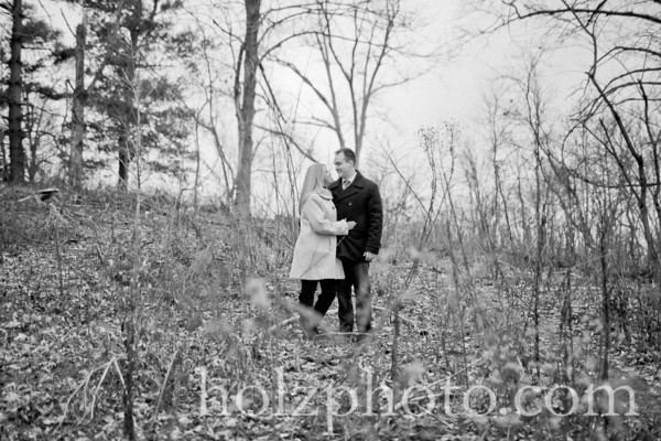 Candice and Rian B/W Engagement Photos