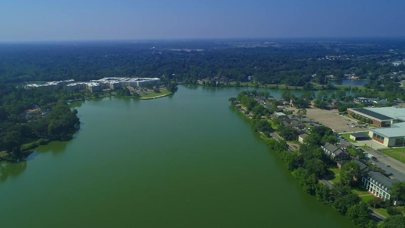 Aerial University Lake LSU Louisiana