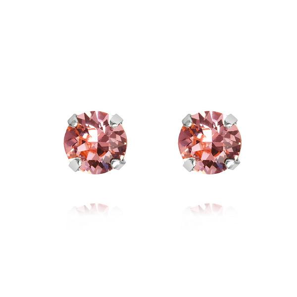 Classic Stud Earrings / Light Rose Rhodium