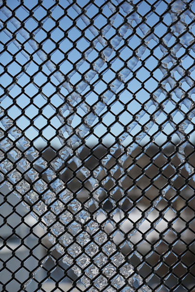 Ice on Chain-link Fence
