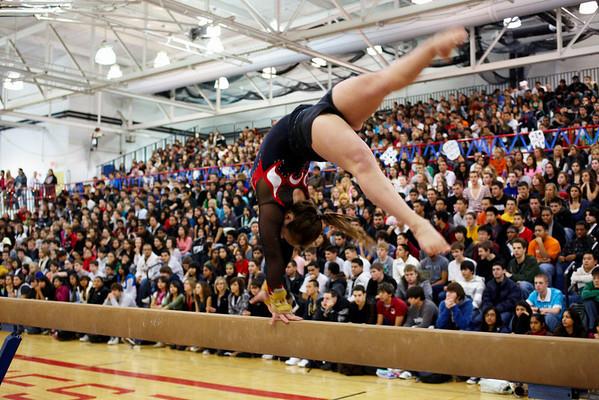 2008.12.12 - Girls' Gymnastics - Winter Pep Assembly