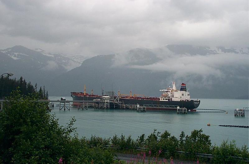 Oil tanker at berth 5