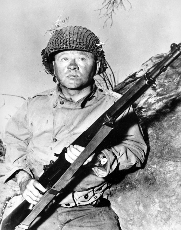 ". Actor Mickey Rooney is shown in this file photo as G.I. Dooley in the 1956 Hollywood movie ""The Bold and the Brave.\""(AP Photo/File)"