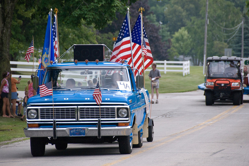 Pickup Truck in 4th of July Parade in Stephensville, Wisconsin