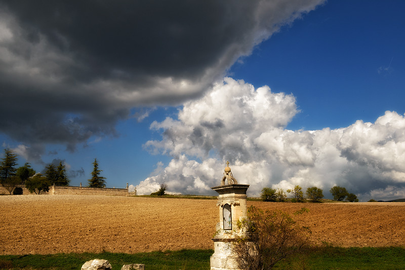 Countryside near Murs - that cloud seemed omnious.