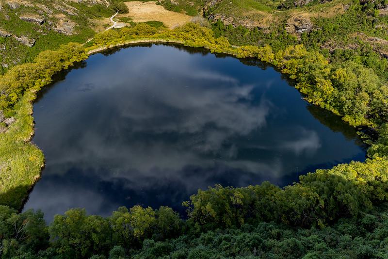 Der «Diamond Lake» von oben