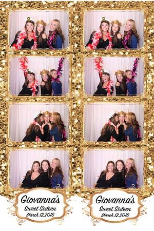 Gia's Sweet Sixteen Photo Booth 3/12/16