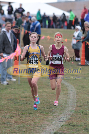 Girls Division 4 at 1.5 Mile & 2 Mile Marks - 2012 Portage Invite