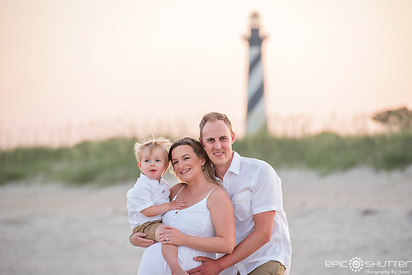 Maternity Portraits, Cape Hatteras Family Vacation, Buxton, North Carolina, Cape Hatteras Lighthouse, Family Portraits, Family Photos, Outer Banks Photographer, Hatteras Island Photographer, OBX Family Vacation, Epic Shutter Photography