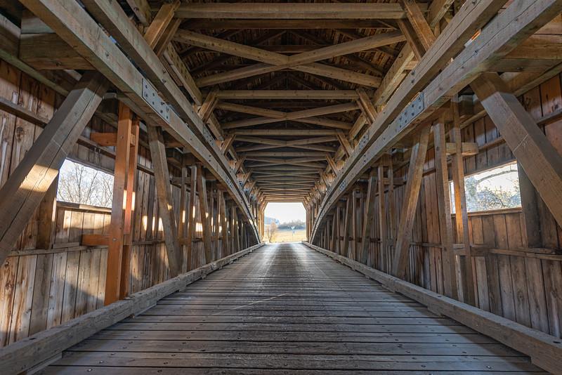 Traveling Through Pinetown Covered Bridge