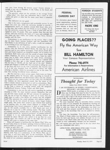 SoCal, Vol. 61, No. 92, March 16, 1970