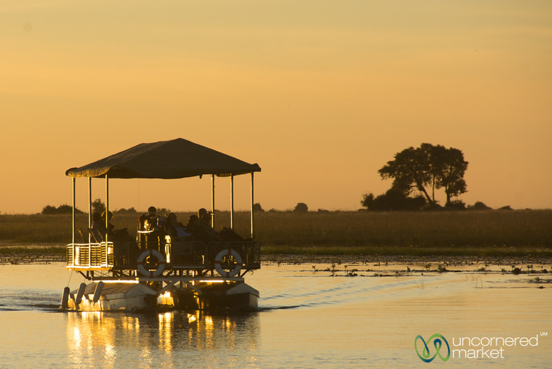 Silent Electric Boat on the Chobe River - Botswana