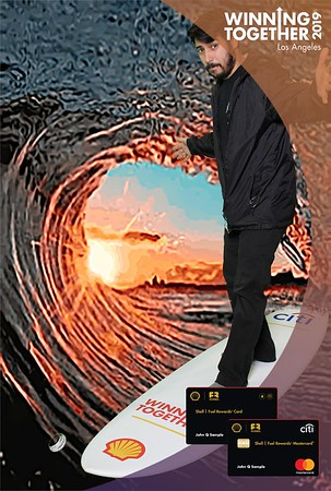 PRINTS -  SHELL - Winning Together - Green Screen Surfing