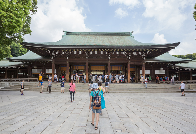 Meiji Shrine, located in Shibuya. Editorial credit: MAHATHIR MOHD YASIN / Shutterstock.com