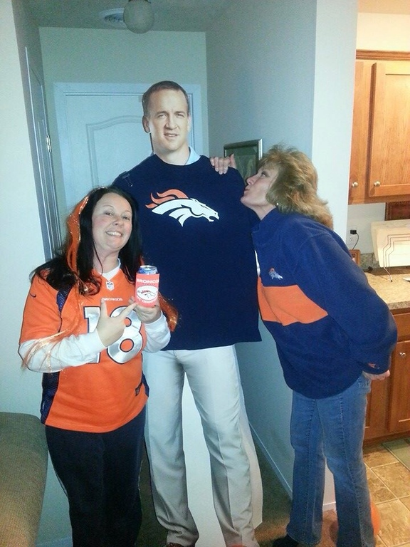 . Lifelong Broncos family - lived in Aurora many years ago - and longtime fan of Peyton Manning. The day he announced his signing with Denver, I just about fainted! :) (Submitted by Bethany Donahue)