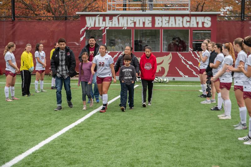 Willamette Bearcats Women's Soccer Senior Day