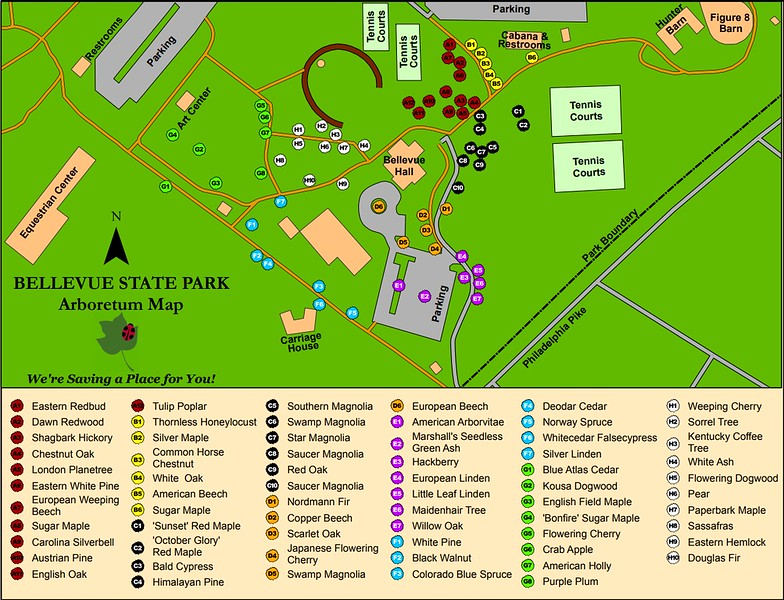 Bellevue State Park (Arboretum Map)