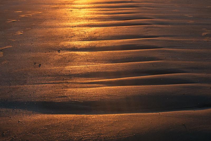 Sand at sunset