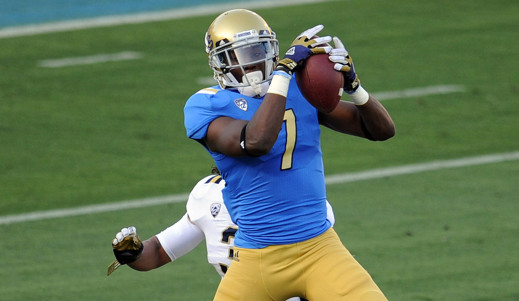 . UCLA wide receiver Devin Fuller during the football spring showcase college football game in the Rose Bowl on Saturday, April 27, 2013 in Pasadena, Calif.    (Keith Birmingham Pasadena Star-News)