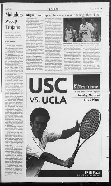 Daily Trojan, Vol. 154, No. 31, February 28, 2005