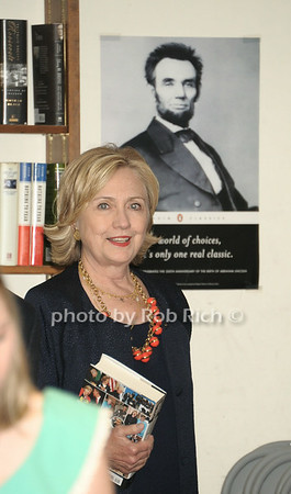 """Hillary Clinton signs her new book """"Hard Choices"""" at the Book Revue in Huntington on 8-6-14.all photos by Rob Rich © 2014 robwayne1@aol.com 516-676-3939"""