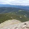 Descending loose rock on Spanish West Peak