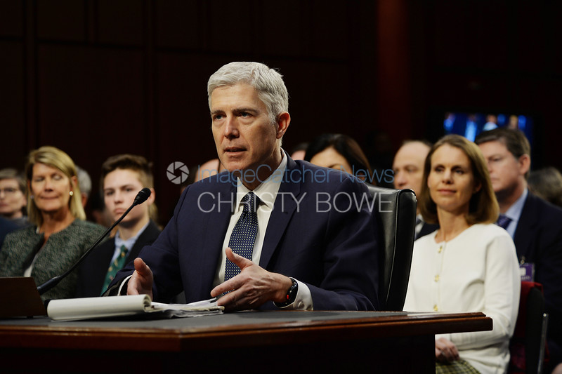 Judge Neil Gorsuch goes through his confirmation hearing by the Senate Judiciary Committee to see if he will be the next Supreme Court Justice.