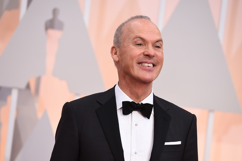 . Michael Keaton arrives at the Oscars on Sunday, Feb. 22, 2015, at the Dolby Theatre in Los Angeles. (Photo by Jordan Strauss/Invision/AP)