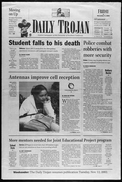Daily Trojan, Vol. 147, No. 53, November 08, 2002