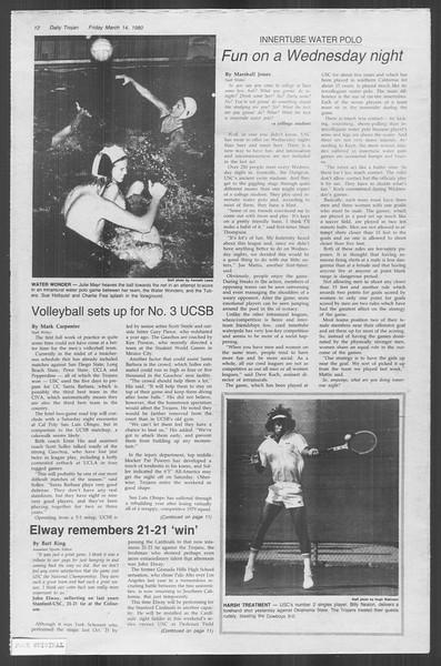 Daily Trojan, Vol. 88, No. 28, March 14, 1980